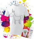 Detské tričko Jednorožec Omalovánka_na_Tričku_Oma & Luj
