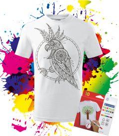 Detské Tričko Kakadu Omaľovánka na tričku Oma & Luj