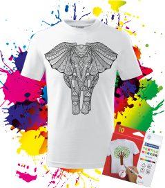 Detské Tričko Slon - Omaľovánka na tričku Oma & Luj
