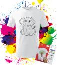 Detské Tričko Sloník Omaľovánka na tričku - Oma & Luj