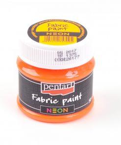 Farba na textil Pentart neónová oranžová 50ml - Oma & Luj