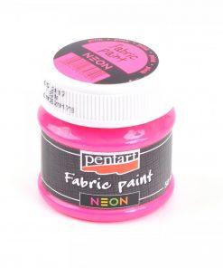 Farba na textil Pentart neónová ružová 50ml - Oma & Luj