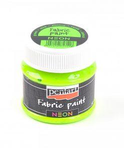 Farba na textil Pentart neónová zelená 50ml - Oma & Luj