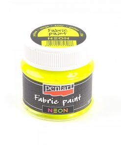 Farba na textil Pentart neónová žltá 50ml - Oma & Luj