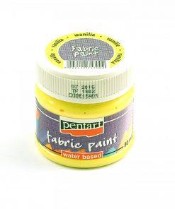 Farba na textil Pentart žltá vanilka 50ml - Oma & Luj