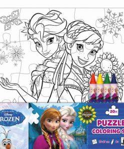 Puzzle omaľovánka Ľadové kráľovstvo - Oma & Luj