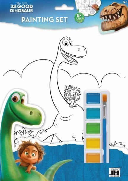 Omaľovánka A4 Dobrý dinosaurus s vodovými farbami - Oma & Luj