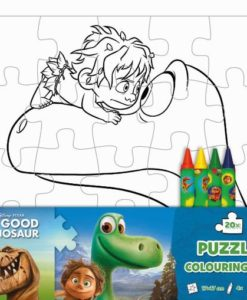Puzzle omaľovánka Dobrý dinosaurus - Oma & Luj