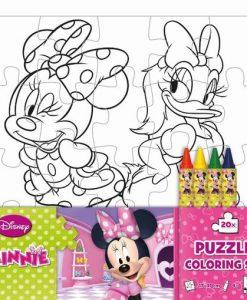 Puzzle omaľovánka Minnie - Oma & Luj