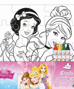 Puzzle omaľovánka Disney Princezné - Oma & Luj
