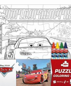 Puzzle omaľovánka Autá - Oma & Luj