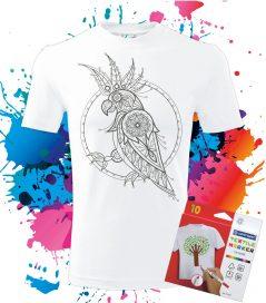 Pánske Tričko Kakadu - Omaľovánka na tričku - Oma & Luj