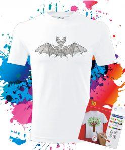Pánske Tričko Netopier - Omaľovánka na tričku - Oma & Luj