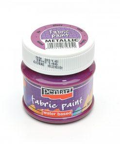 Farba na textil Pentart metalická fialová 50ml - Oma & Luj