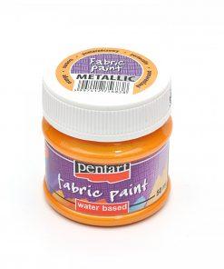 Farba na textil Pentart metalická oranžová 50ml - Oma & Luj