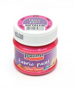 Farba na textil Pentart metalická ružová 50ml - Oma & Luj