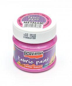Farba na textil Pentart metalická svetlo fialová 50ml - Oma & Luj