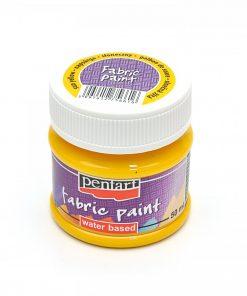 Farba na textil Pentart žltá slnečná 50ml - Oma & Luj