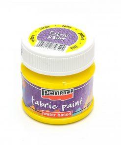 Farba na textil Pentart žltá 50ml - Oma & Luj
