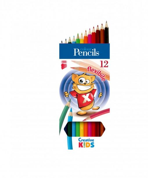 Farbičky ICO Creative kids flexible 12ks/bal - Oma & Luj