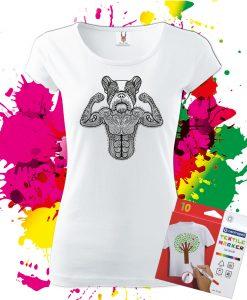 Dámske tričko Buldoček - Omaľovánka na tričku - Oma & Luj