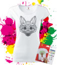 Dámske Tričko Líška Geometric - Omaľovánka na tričku - Oma & Luj