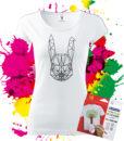 Dámske tričko Zajačik Oma & Luj - Omaľovánka na tričku - Oma & Luj