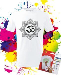 Detské tričko Mandla Ohm - Omaľovánka na Tričku - Oma & Luj