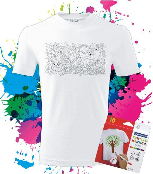 Pánske Tričko Hračky - Omaľovánka na tričku - Oma & Luj
