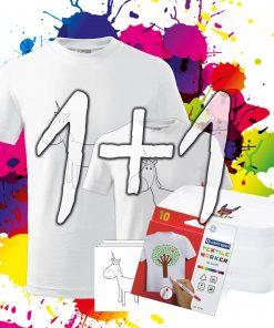 Rodinne Balenie 1+1 - Tričká Oma & Luj s omaľovánkou a fixkami v balení