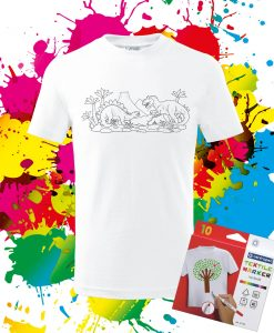 Detské tričko Dinosaurus Omaľovánka na tričku - Oma & Luj