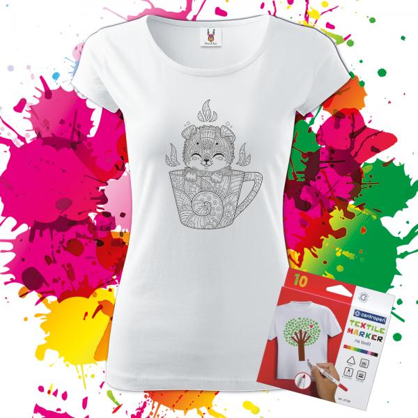Dámske tričko Šteniatko v šálke _Oma&Luj_1400x1400