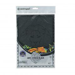 Antistresová omaľovánka čierna zvieratá - Oma & Luj