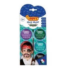 Farby na tvár pirát 6x8ml - Oma & Luj