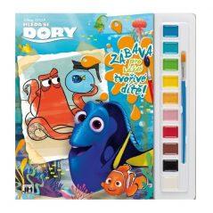 Omalovánka s vodovými farbami Hľadá sa Dory