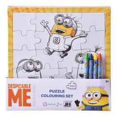 Puzzle omaľovánka Mimoni