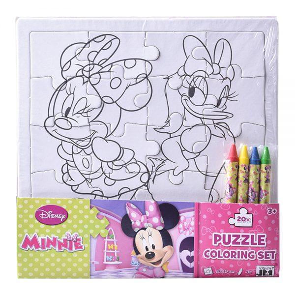 Puzzle omaľovánka Minnie