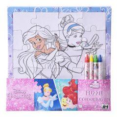 Puzzle omaľovánka Princezne