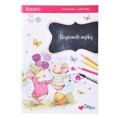 Trblietavé omaľovánky roztomilé myšky - Oma & Luj