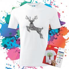 Pánske Tričko Jeleň - Omaľovánka na tričku - Oma & Luj