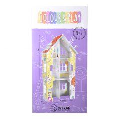 Kartónové modely Monumi domček pre dievčatá - Oma & Luj