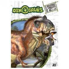 Omaľovánka A4 s 27 samolepkami Dinosaury - Oma & Luj