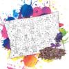 Pohánkovo levanduľový vankúš s omaľovánkou Písmená - Oma & Luj