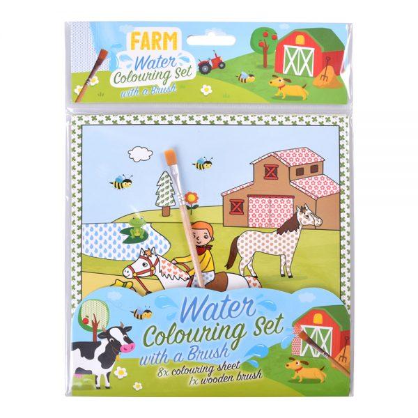 Vodová omaľovánka Farma - Oma & Luj