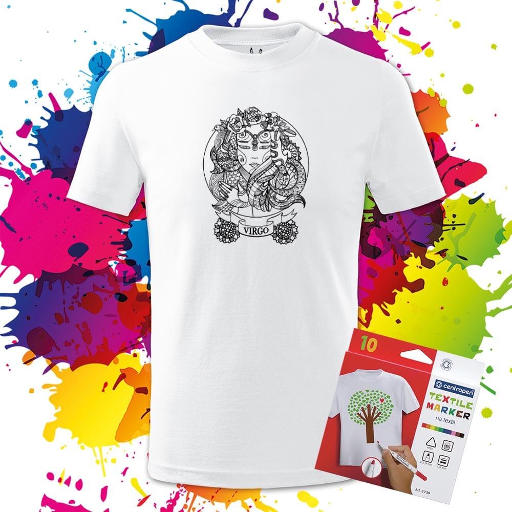 Detské tričko Panna - Znamenia - Omaľovánka na tričku - Oma & Luj